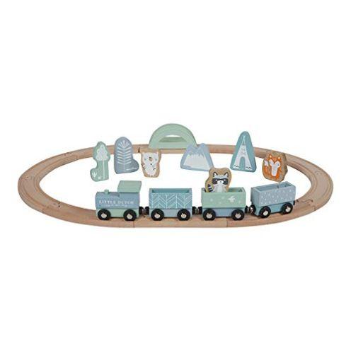 Little Dutch Holzeisenbahn mit Schienen