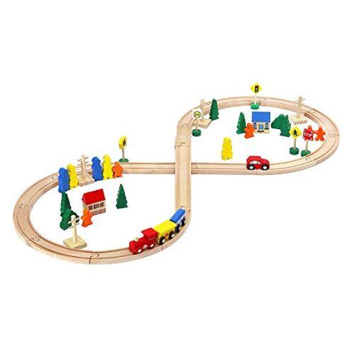 MALATEC 50/100 teilig Holz-Bahn
