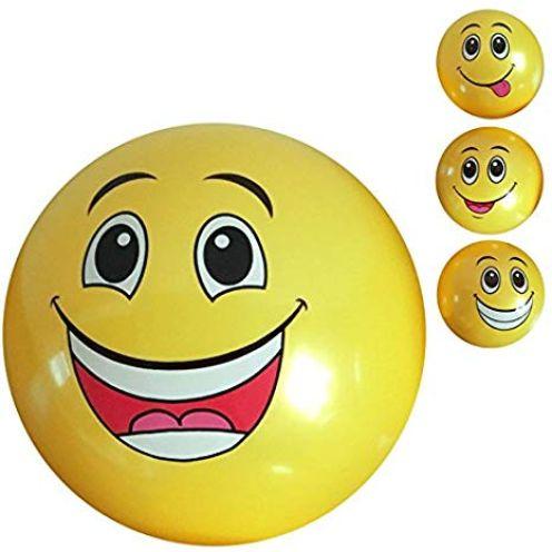2 Stück PVC Ball Smiley 20 cm