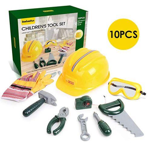 BeebeeRun 10 teiliges Kinder Werkzeug Set