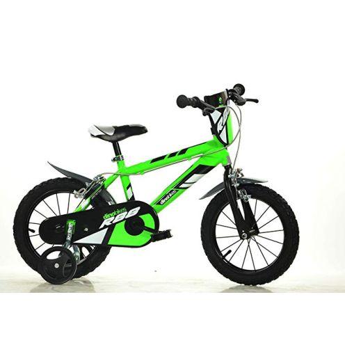 Dino Bikes Jungen Kinderfahrrad grün 416U