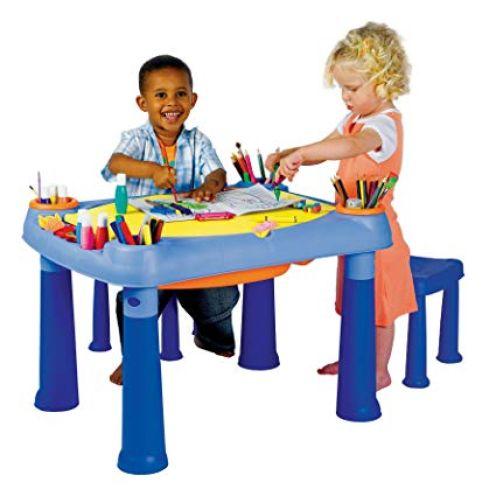 KETER M675 - Kreativ-Spieltisch mit 2 Hockern