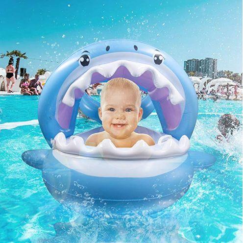 Veitorld Aufblasbarer Hai für den Pool