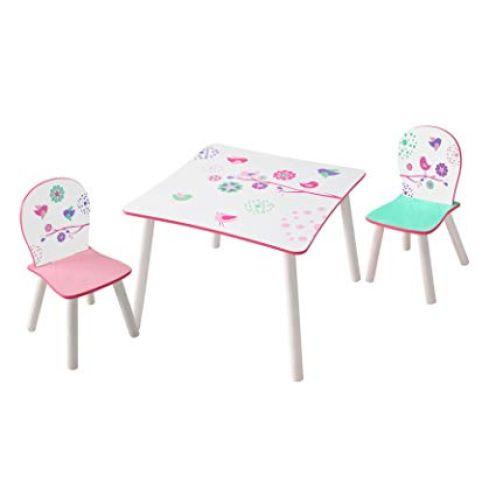 Worlds Apart Blumen und Vögel - Set aus Tisch und 2 Stühlen