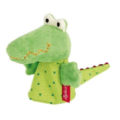 Sigikid Fingerpuppe Krokodil, Theaterpuppe in Grün