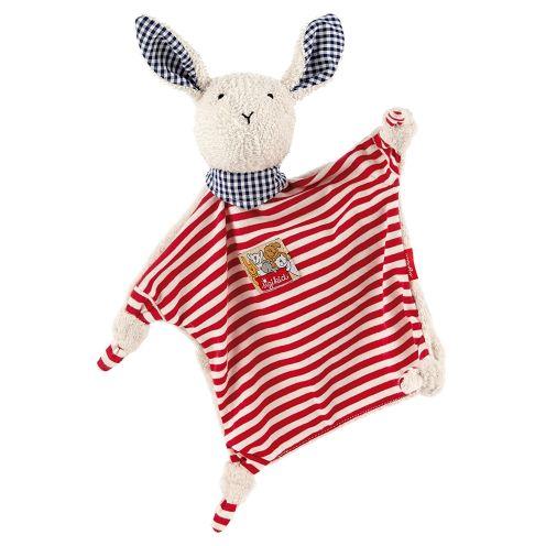 Sigikid Schnuffeltuch Hase in rot/weiß