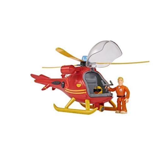 Simba 109251661 - Feuerwehrmann Sam Hubschrauber mit Figur