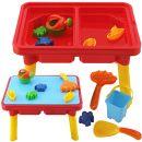 Stimo24 Sand & Wasser Spieltisch mit 10 Teilen