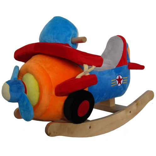 Sweety-toys Schaukeltier Flugzeug aus Soft Plüsch