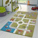 T&T Design City Hafen Stadt Straßen Spielteppich