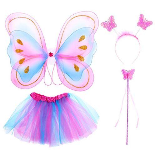 TinkSky 4 Stück Mädchen Fee Kostüme
