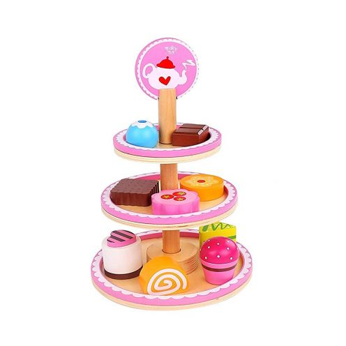 Tooky Toy tkc297 Holz Dessert Ständer