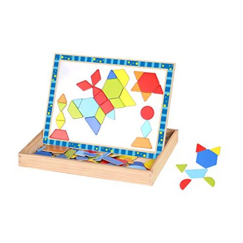 Tooky Toy TKF027 Craft Trikes Shapes Magnetic Puzzle