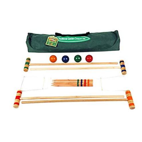 Traditional Garden Games 75cm Croquet Set In Canvas Tasche
