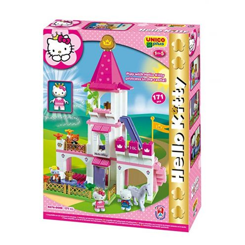 Unico Plus Bau einzige Hello kitty-castello Große 171pz 8676