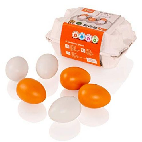 VIGA Eier aus Holz - 6 Stück