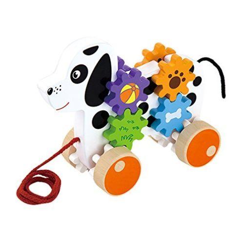 VIGA Ziehtier - Hund mit Zahnradspiel