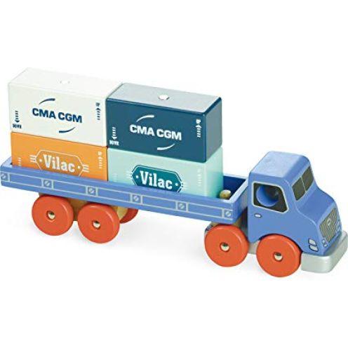 Vilac 2358 – LKW – Holzspielzeug mit Magnet-Schraubenhalter