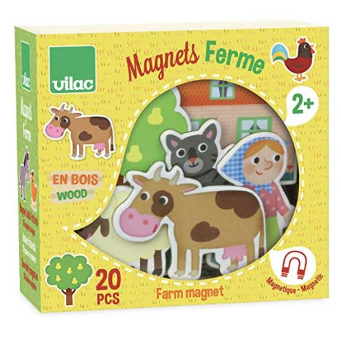 Vilac 8027 – Magnete mit Bauernhofmotiven aus Holz