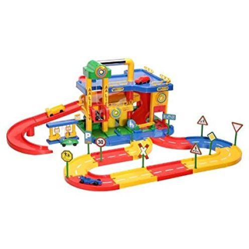 Wader Quality Toys 05085 Garage No.1 mit Straßensystem