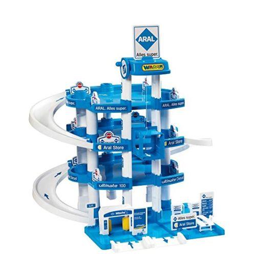 Wader Quality Toys 10220 - Parkgarage Aral mit 4 Ebenen und Zubehör