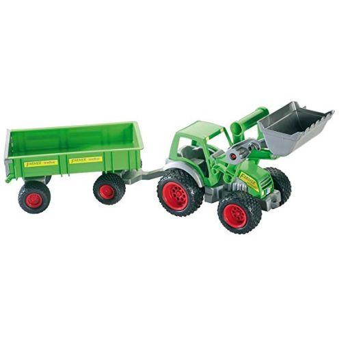 Wader Quality Toys 39202 - Traktor mit Frontlader und Anhänger