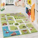 Paco Home Kinderteppich Spielteppich City Hafen