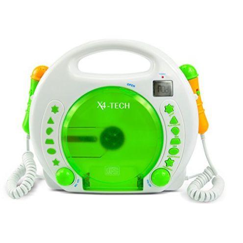 X4-Tech Bobby Joey Kinder MP3-CD-Player mit Akku grün