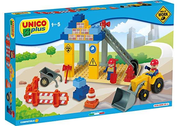 Unico Plus 8526 Baustelle mit Fahrzeugen Men at Work