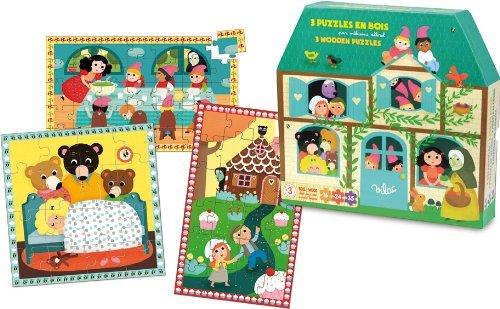 Vilac Märchen Holz Puzzle Set (3-teilig)