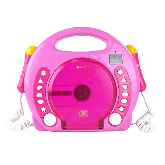 X4 TECH Bobby Joey MP3 Kinder CD Player Pink